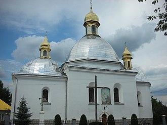 Horodok, Lviv Oblast - Image: NSH Gorodok Tserkva Blagovischennya Bogorodytsi 001