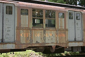 R7/A (New York City Subway car) - An R7 car at the Seashore Trolley Museum