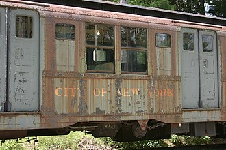 R7/A (New York City Subway car) - An R7 car at the Seashore Trolley Museum