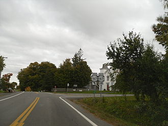 New York State Route 168 - NY 168 east at the junction with NY 167 in Paines Hollow