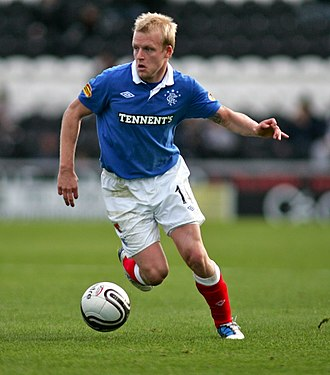 Steven Naismith - Naismith with Rangers in 2010.