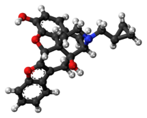 Ball-and-stick model of naltriben