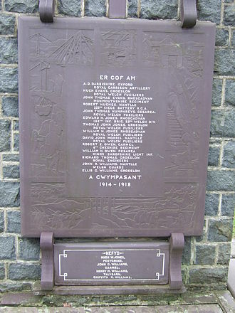Nantlle - war memorial in village