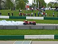 Napier Bentley burnout Mallory Park.jpg