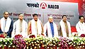Narendra Singh Tomar, the Union Minister for Tribal Affairs, Shri Jual Oram, the Minister of State for Petroleum and Natural Gas (Independent Charge), Shri Dharmendra Pradhan, the Minister of Steel & Mines, Odisha.jpg