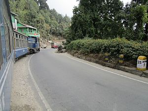 National Highway 110 (India) - NH 110 at 9 kilometer upway from Kurseong
