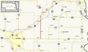Nebraska Highway 63 - Image: Nebraska Highway 63 map
