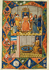 Nectanebus enthroned, with courtiers