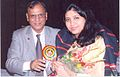 Neetaji Singhal receiving Jyotisha Vaghdevi Title by International Astrological Association.jpg