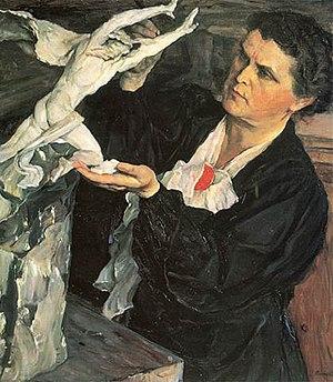 Vera Mukhina - Vera Mukhina; portrait by Mikhail Nesterov (1937)