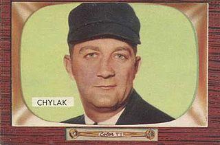 Nestor Chylak Recipient of the Purple Heart medal