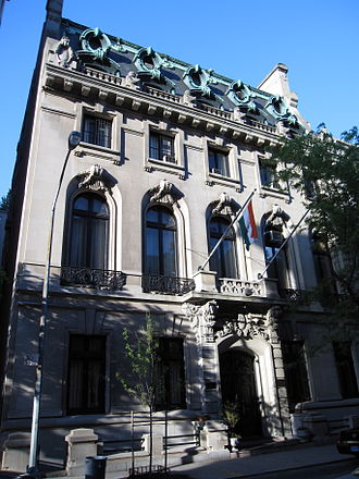66th Street (Manhattan) - Carrie Astor House on 3 East 64th, houses the Indian Consulate-General