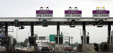 A New Jersey Turnpike tollgate for exit 8A in Monroe Township New Jersey Turnpike toll gate.jpg