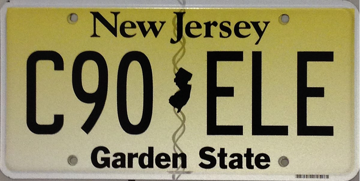 Vehicle registration plates of New Jersey - Wikipedia