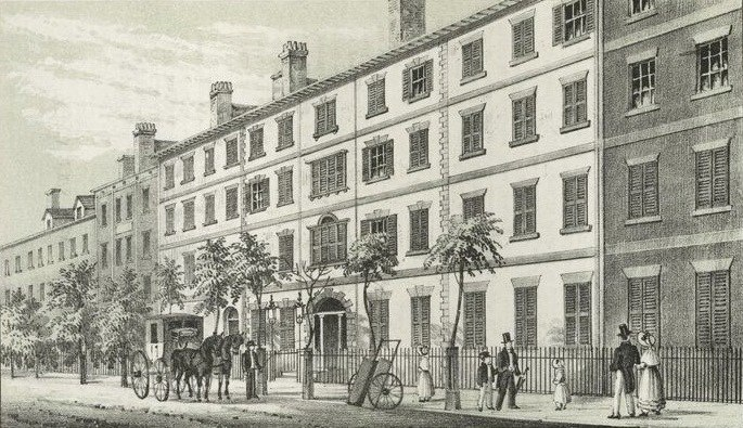 Second Presidential Mansion: Alexander Macomb House, Manhattan, New York. Occupied by Washington: February–August 1790.