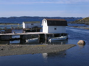 Twillingate - A newer looking wharf in the area
