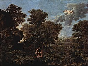 Paradise - Nicolas Poussin, Four seasons of paradise, 1660–64