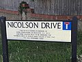 Nicolson Drive named after Wing Commander Nicolson VC.jpg
