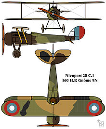 Nieuport 28 C.1 French First World War single seat fighter colourized drawing.jpg