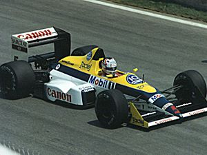 Nigel Mansell - Mansell driving a Williams FW12 at the 1988 Canadian Grand Prix