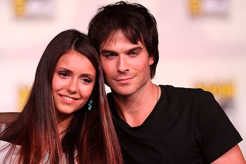 File:Nina Dobrev and Ian Somerhalder by Gage Skidmore.jpg