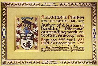Alexander Nisbet Scottish heraldist