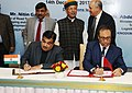 Nitin Gadkari and the Minister of Equipment, Transport, Logistic and Water, Kingdom of Morocco, Dr. Abdelkader Amara signing an MoU on Cooperation in the field of Water Resources.jpg
