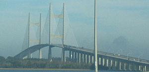 Dames Point Bridge - Image: Northbound approaching Dames Point Bridge