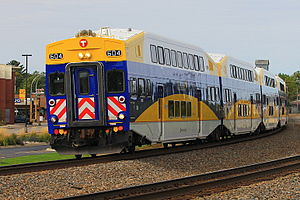 Metro Transit rolling stock - Image: Northstar Line cab car MNRX 604