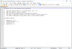 Notepad++ v6.9.2 on Windows 10, with latest Notepad++ change log.png