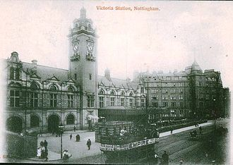 Transport in Nottingham - Nottingham Victoria Station in the early 1900s.