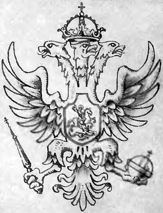Triple-headed eagle - The triple-headed eagle design used by Michael I of Russia.