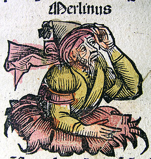Merlin, from the Nuremberg Chronicle (1493)