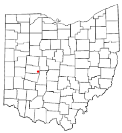 Location of Mechanicsburg, Ohio
