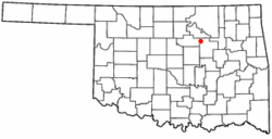 Location of Oilton, Oklahoma