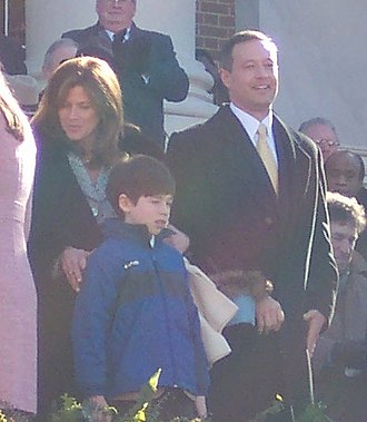 Martin O'Malley - Martin O'Malley's inauguration. Gov. Martin O'Malley was officially sworn for a second term by Robert M. Bell, chief judge for the Maryland Court of Appeals. O'Malley was joined by his family, wife Katie and children: Jack, William, Grace and Tara.