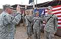 Oath of enlistment to soldiers of 1st Battalion, 327th Brigade, 101st Airborne Division - 2006-02-20.jpg