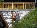 Oberursel Hohe Mark Fußgängerbrücke mit Keltenmotiven 1.JPG