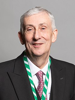 Official portrait of Rt Hon Sir Lindsay Hoyle MP crop 2.jpg