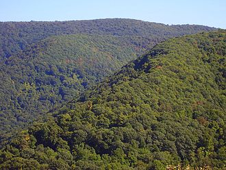Great Allegheny Passage - Allegheny Mountains along the trail route