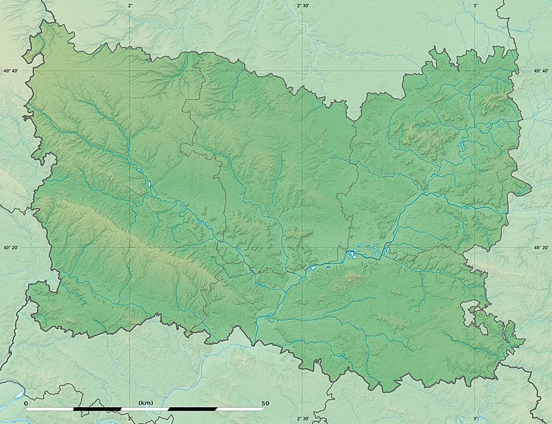 Fichier:Oise department relief location map.jpg