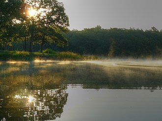 Okmulgee Park - Sunrise over Okmulgee Lake