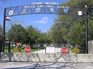 Camp Mabry - Pre-9/11 Entrance to Camp Mabry