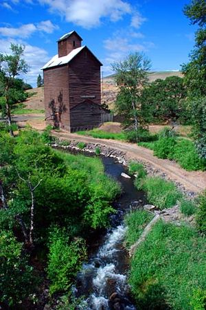 Wasco County, Oregon - Boyd Loop Road grain elevator on Fifteenmile Creek, Wasco County