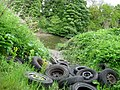 Old car wheels dumped by the River Wear - geograph.org.uk - 175919.jpg