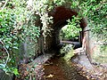 Old railway bridge over stream - geograph.org.uk - 694293.jpg