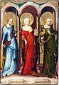 Oltář třeboňský, Sv.Kateřina,sv.Máří Magdalena, sv. Markéta, Národní galerie v Praze.jpg