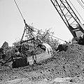Ontginning, grondbewerking, egaliseren, bezanden, draglines, waterregge, Bestanddeelnr 159-0426.jpg