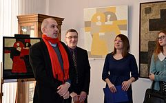 Opening of the exhibition «Adam Hlobus. Belarusian avant-garde of the 80-th» 24.03.2015 05.JPG
