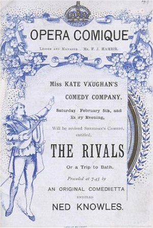 Opera Comique - 1887 programme cover